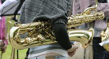 Free The Musician With A Baritone Saxophone Stock Photography - 20095792