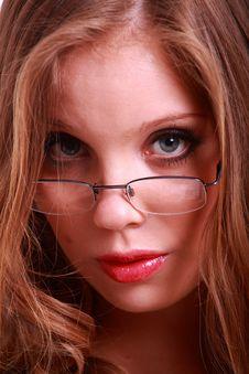 A Close-up Of A Sexy Secretary Stock Photos