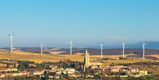 Wind Turbines Four Royalty Free Stock Photo
