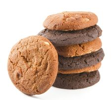 Free Stack Of Chocolate Cookies Royalty Free Stock Photos - 20097138