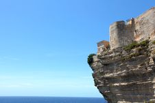 Free Cliff Castle Against The Sea Royalty Free Stock Image - 20097516