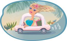 Free Blond Goes To The Sea Royalty Free Stock Photo - 20097625