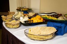 Free Cheese And Cracker Party Table Royalty Free Stock Photo - 20097765