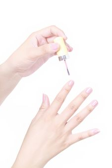 Free Close Up View Of Painting Nail Royalty Free Stock Photography - 20097837