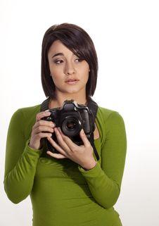 Free Beautiful Photographer Royalty Free Stock Image - 20097886