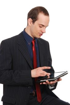 Free The Young Enterprising Man With The Laptop Stock Image - 20097891