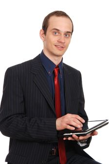 Free The Young Enterprising Man With The Laptop Royalty Free Stock Images - 20097919