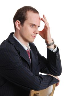 Free Portrait Of Pensive Executive Man Royalty Free Stock Photo - 20098295