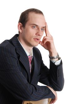 Free Portrait Of Pensive Executive Man Royalty Free Stock Photo - 20098325