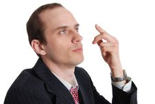 Free Portrait Of Pensive Executive Man Stock Image - 20098361