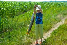 The Granddaughter Of A Fisherman Royalty Free Stock Photos