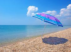 Free Beach Umbrella, Sea And Sky Royalty Free Stock Image - 20099006