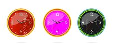 Free Colored Classic Clocks Set Isolated Stock Image - 20099131