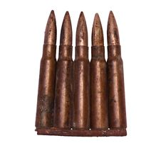 Free WW II Bullets Isolated Stock Photos - 20099293