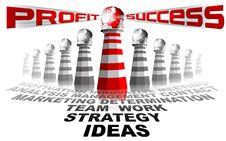 Lighthouse Profit And Success Stock Photos
