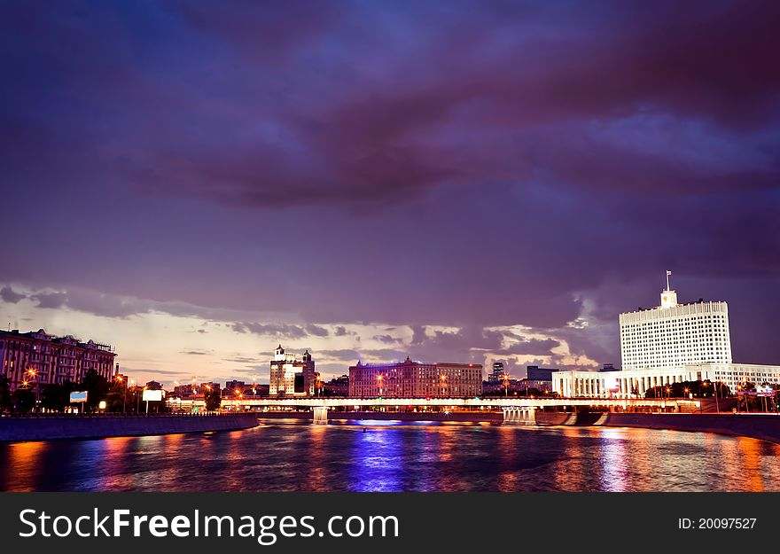 Night Moscow cityscape