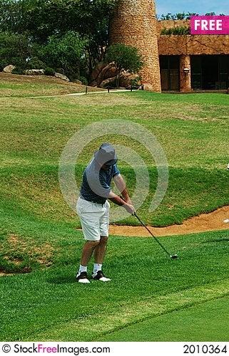 Golfer on the fairway. Stock Photo