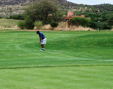 Golfer. Stock Photo