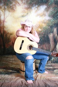Free Country Music Girl Royalty Free Stock Photo - 2010875