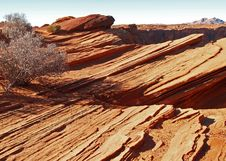 A Rock Formation In The Glen Canyon Stock Photo