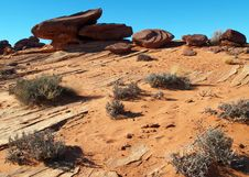A Rock Formation In The Glen Canyon Royalty Free Stock Photography