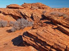 A Rock Formation In The Glen Canyon Royalty Free Stock Images
