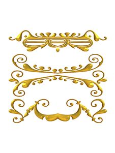 Free Decorative Gold Flourishes Royalty Free Stock Images - 2012289