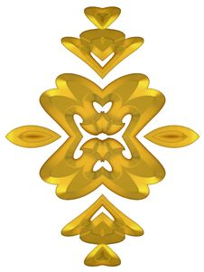 Free Shiny Gold Decorative Accents Royalty Free Stock Photo - 2012295