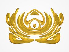 Free Gold Colored Design Pattern Royalty Free Stock Image - 2012296