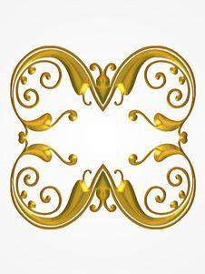 Free Gold Decoratve Design Pattern Royalty Free Stock Photos - 2012298