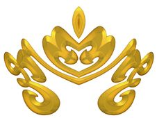 Free Gold Decorative Crown Design Stock Image - 2012301