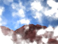 Free Clouds In The Sky In Front Of The Mountains Stock Images - 2012854