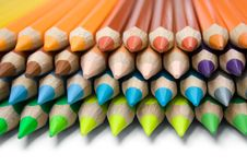 Free Layered Colored Pencils Royalty Free Stock Photo - 2013215