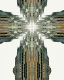 Free Kaleidoscope Cross: Bank Of America Building3 Royalty Free Stock Images - 2013569