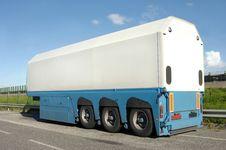 Trailer Of Truck Stock Photo