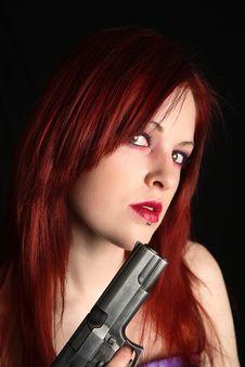 Free Woman Holding A Handgun Stock Photography - 2015492