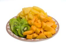 Free Kiwi And Cantaloupe Tray Stock Images - 2016244