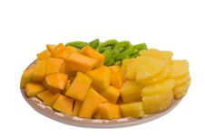 Free Cantaloupe And Pineapple Tray Stock Photos - 2016253