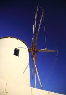 Free Santorini Windmill Royalty Free Stock Photos - 2019088