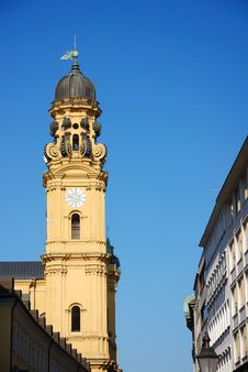 Free Spire Theatinerkirche Stock Photography - 2019652