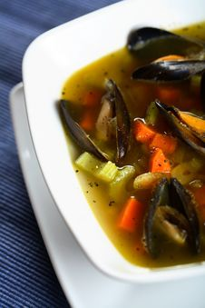 Free Tasty Soup With Shellfish Stock Photography - 2019962