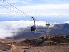 Free Cable Railway To The Top Of The Volcano Royalty Free Stock Images - 2019979