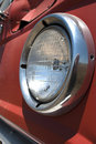 Free Old Red Wheat Truck Headlight Royalty Free Stock Photo - 20102355