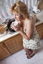 Free Woman Waking Up With A Coffee Royalty Free Stock Photo - 20104955