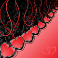 Free Black And Red Background With Hearts Royalty Free Stock Images - 20105989