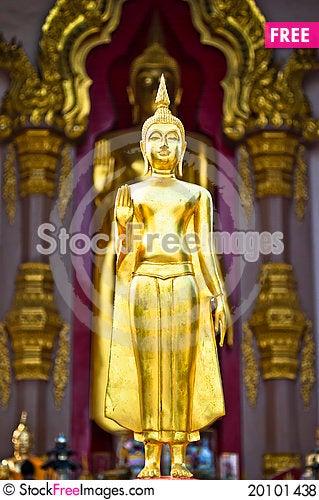 Raise hands Buddha statue Stock Photo