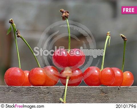 The cherries Stock Photo