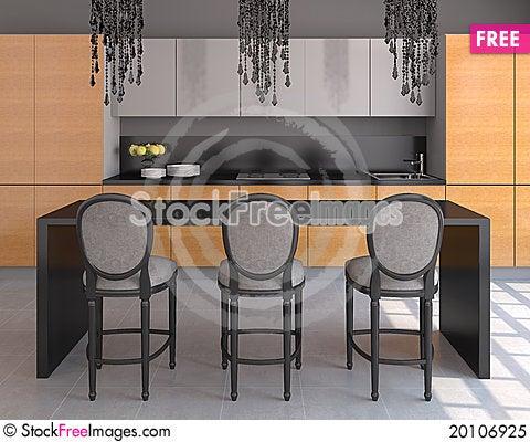 Free Kitchen Interior. Royalty Free Stock Photo - 20106925