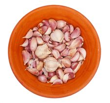 Free Garlic On A Plate Stock Image - 20100471