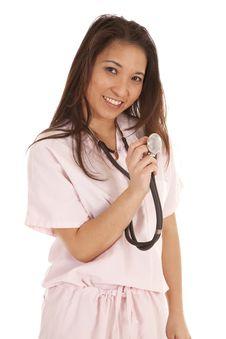 Free Scrubs Woman Stethoscope Royalty Free Stock Photos - 20100718
